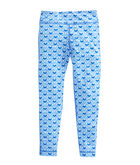 Girls Printed Whale Tail Performance Leggings
