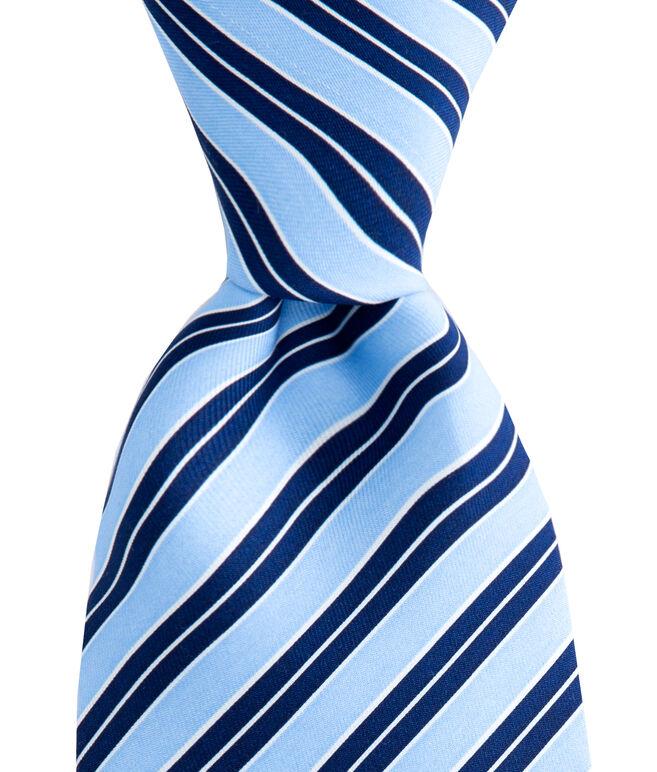 Broken Rep Stripe Printed Tie