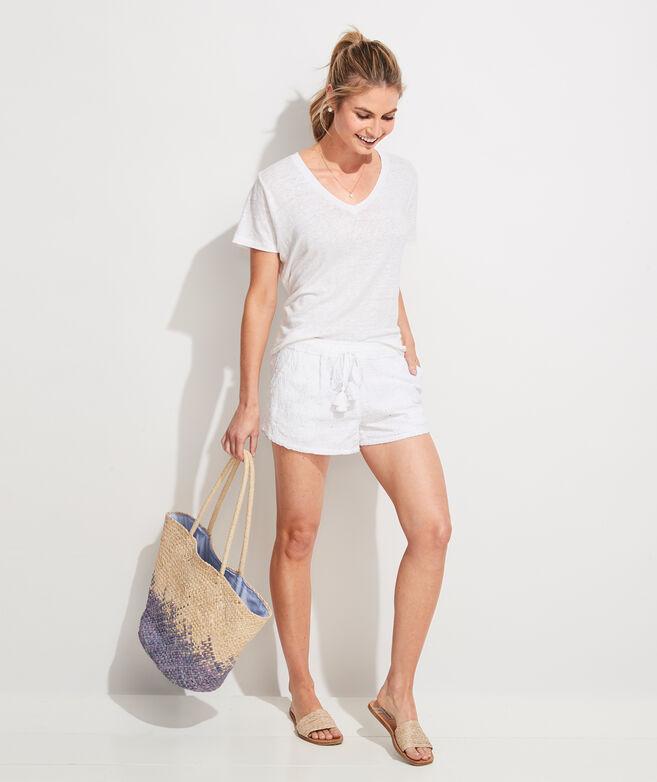 Island Eyelet Pull-On Shorts