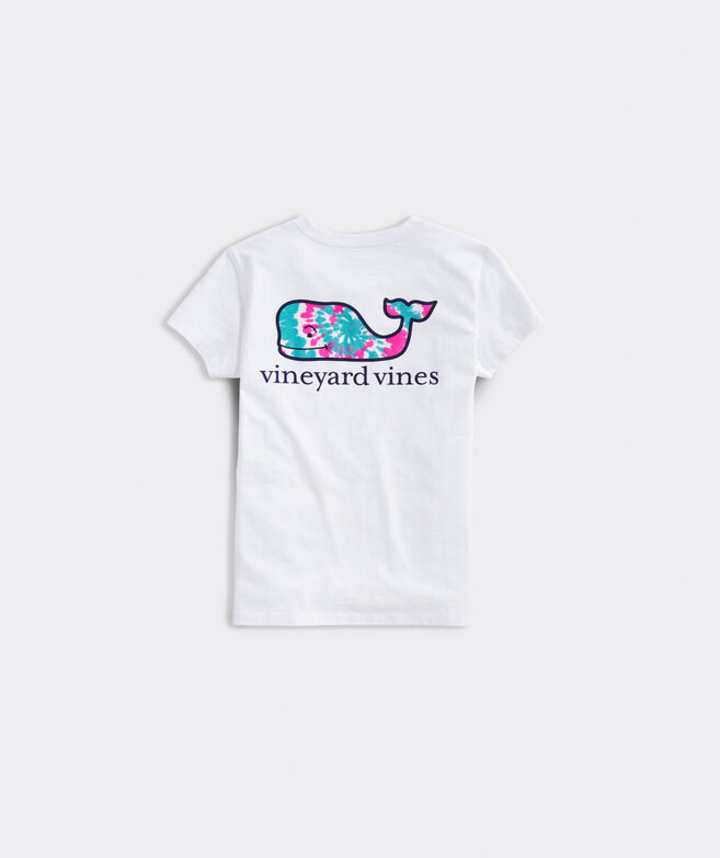 Girls' Tie Dye Whale Fill Short-Sleeve Pocket Tee
