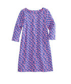 Girls Knit Striped Whales Tisbury Dress
