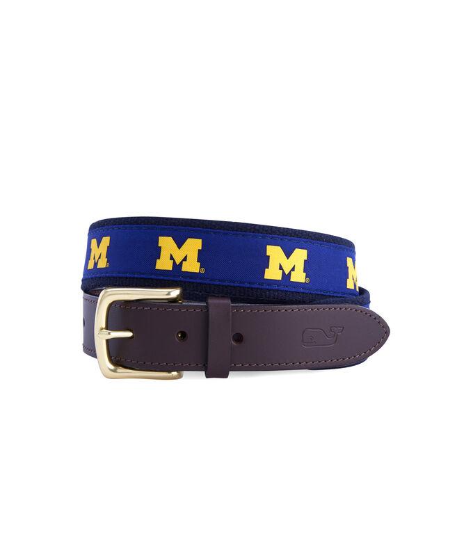 University of Michigan Canvas Club Belt