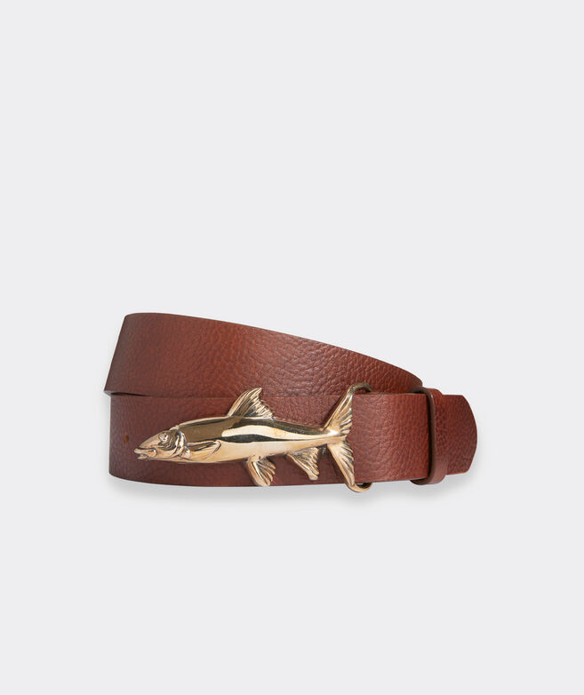 Bonefish Buckle Leather Belt