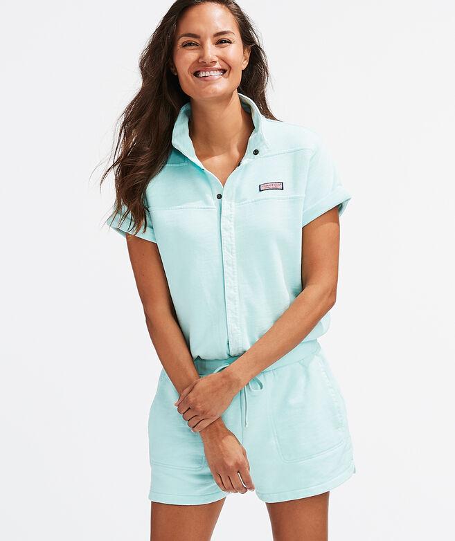 Garment-Dyed Shep Shirt Romper
