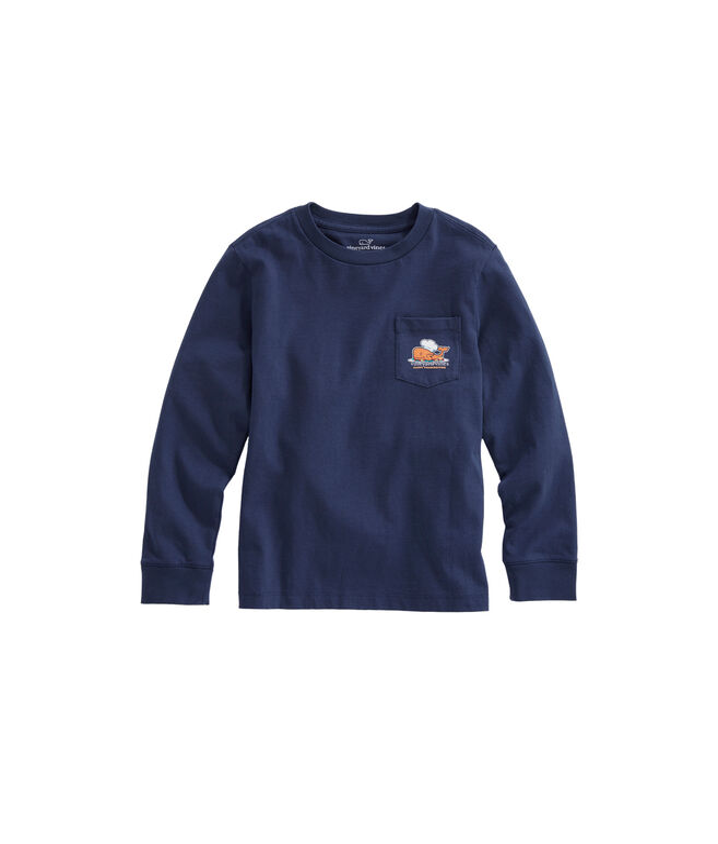 Boys Long-Sleeve Thanksgiving Turkey Pocket T-Shirt