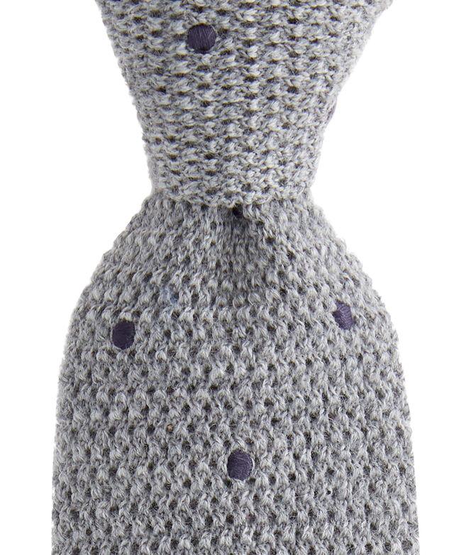 Polka Dot Knit Tie