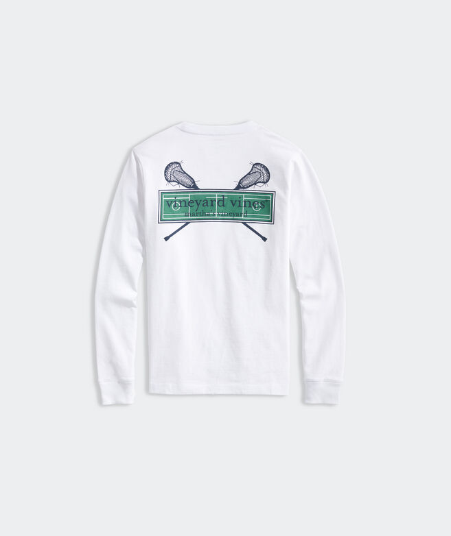 Boys' LAX Field Logo Box Long-Sleeve Pocket Tee