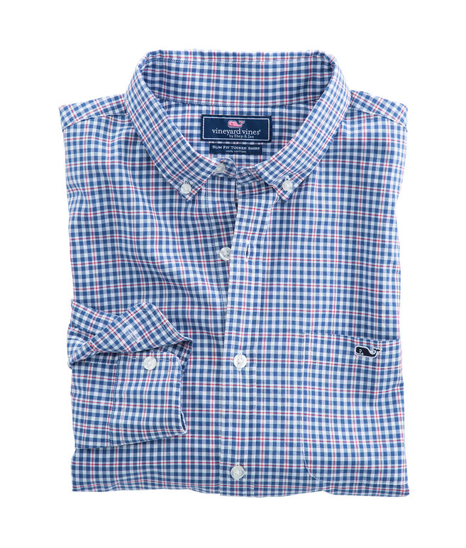 Porter Square Plaid Slim Tucker Shirt