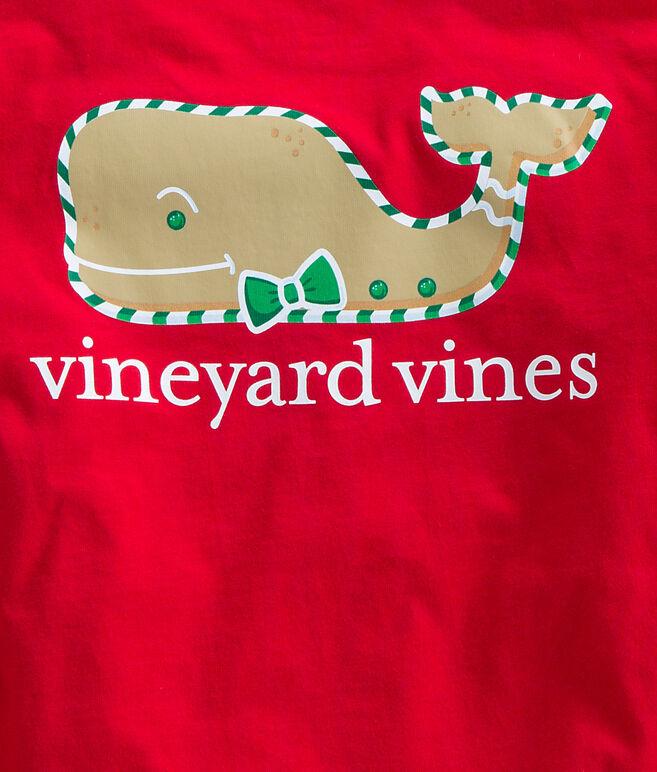 Boys Long-Sleeve Gingerbread Whale Pocket T-Shirt
