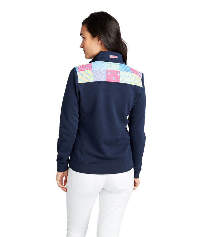 Classic Patchwork Shoulder Shep Shirt