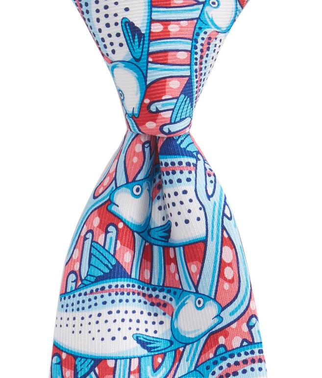 Boys Tropical Fish Printed Tie