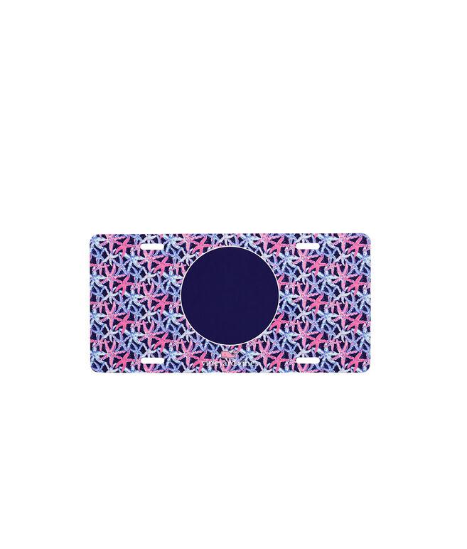 Monogrammed Starfish Vanity Plate