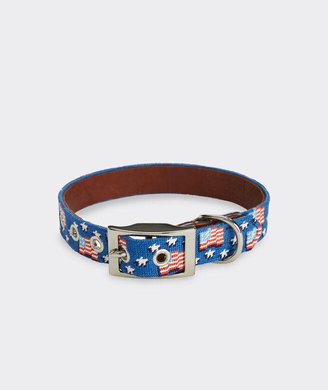 vineyard vines x Smathers & Branson American Flag Dog Collar