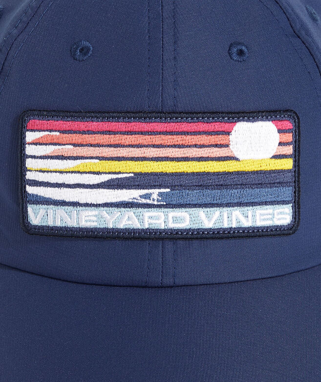 Big & Tall Surf Stripe Patch On-The-Go Performance Baseball Hat
