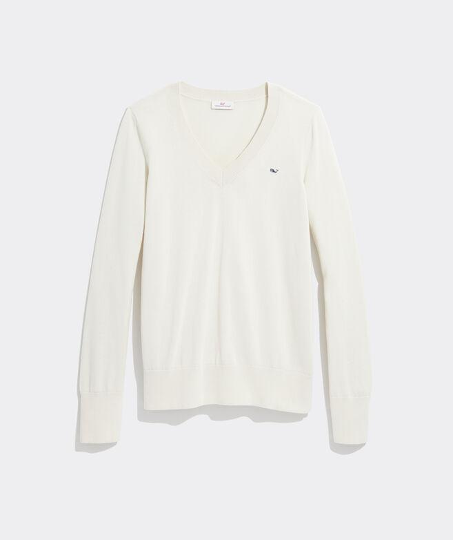 Cotton Heritage V-Neck Sweater
