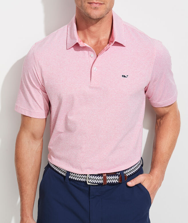 Destin Stripe Sankaty Performance Polo