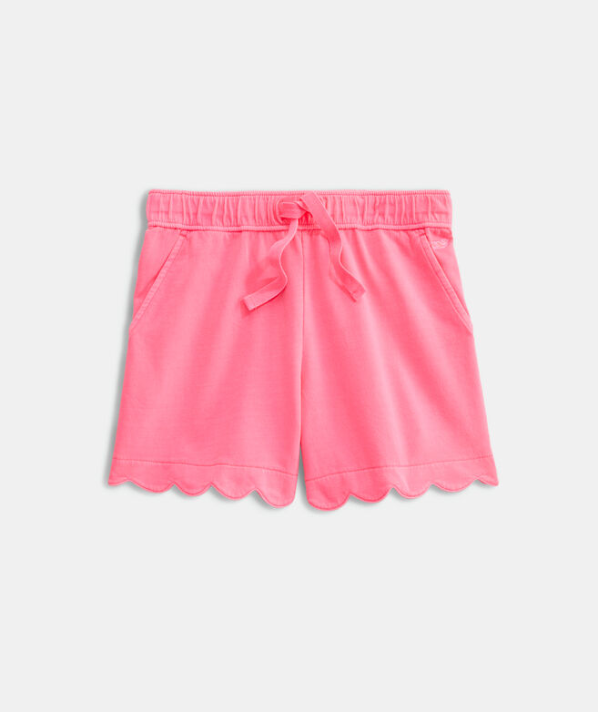 Girls' Garment-Dyed Scallop Shorts
