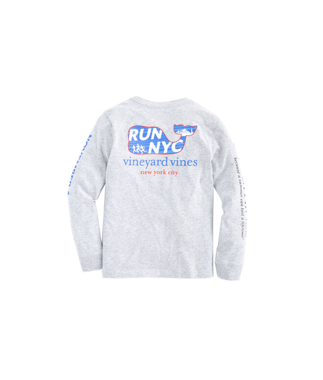Kids 2018 Long-Sleeve NYC Run Marathon T-Shirt