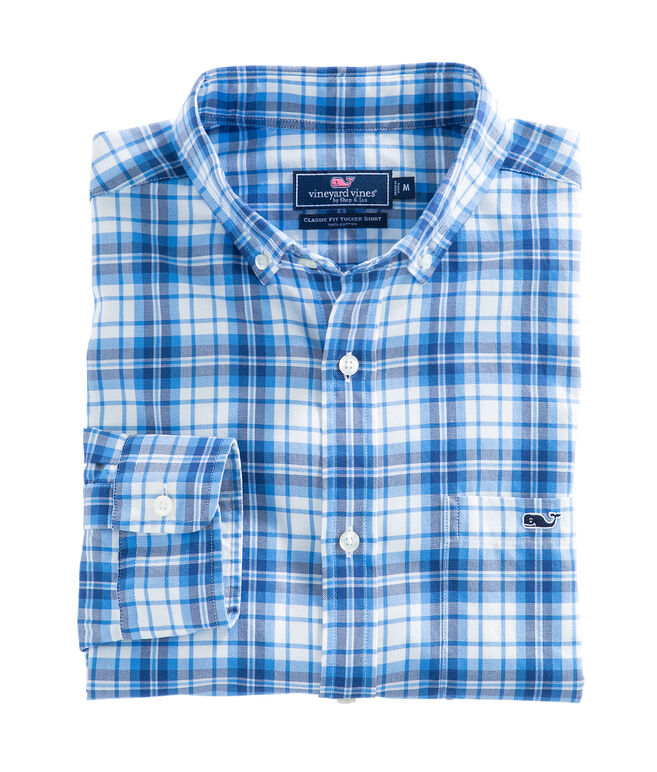 Shore Town Plaid Classic Tucker Shirt