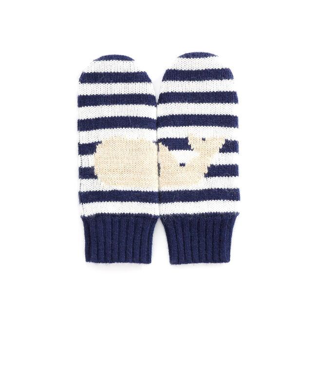 Girls Stripe Whale Mittens