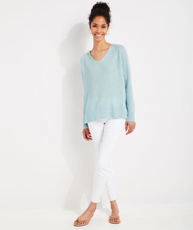 Cashmere Linen Hoodie Sweater