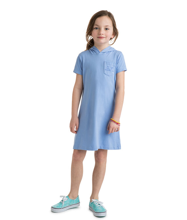 Girls Whale Hoodie Tee Dress