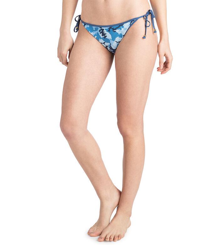 Womens Shark Week Camo String Bikini Bottom