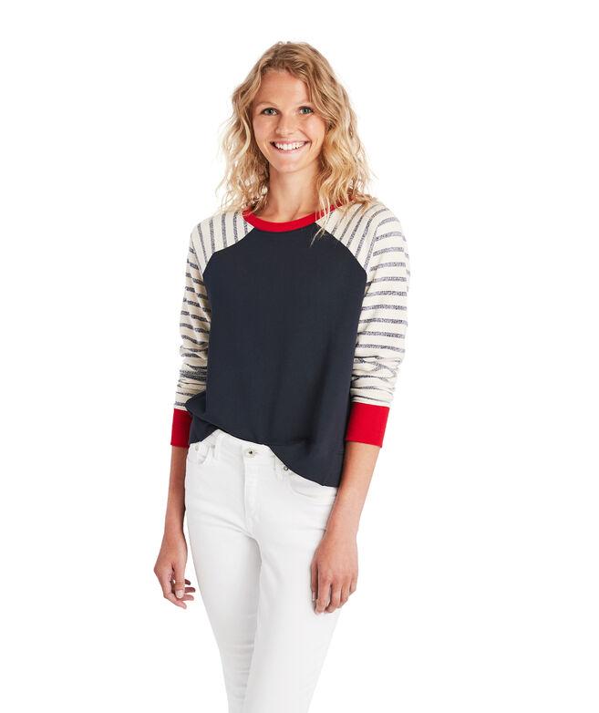 Color Blocked Crewneck Sweatshirt