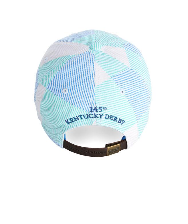 Seersucker Patchwork Baseball Hat