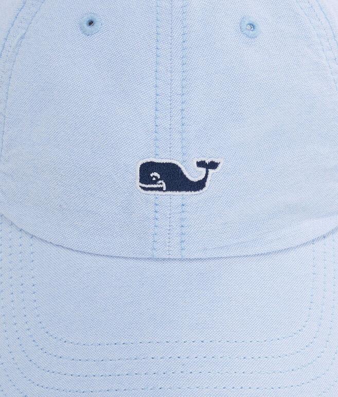 Oxford Whale Logo Leather Strap Baseball Hat