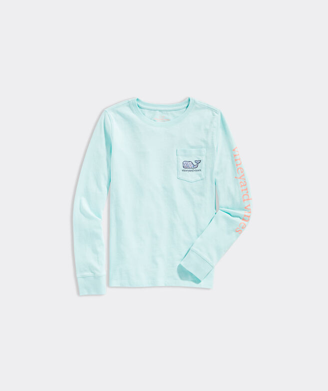 Girls' Milbrook Floral Whale Fill Long-Sleeve Tee