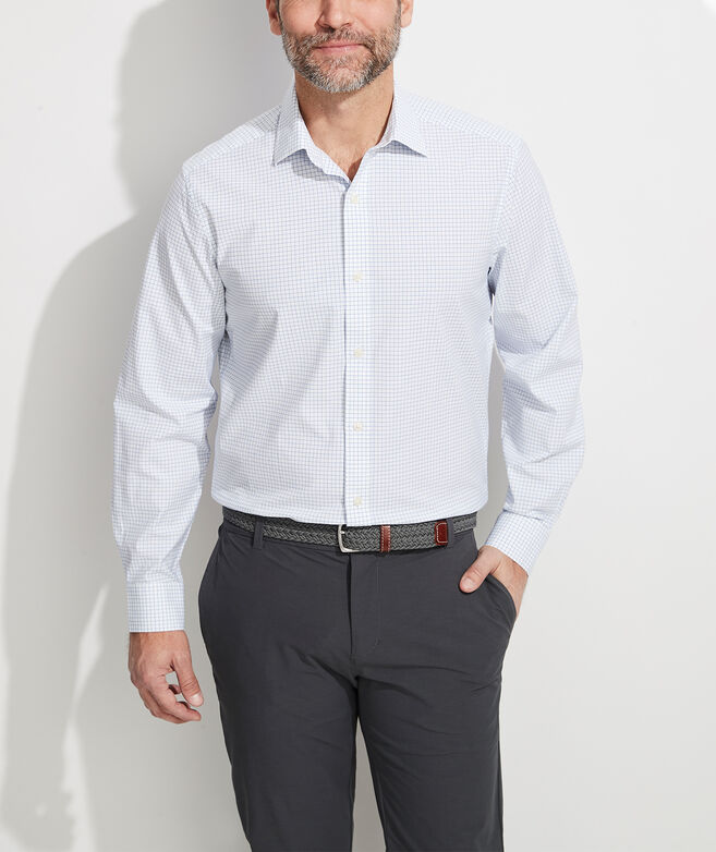 Classic Fit Check Shirt in Stretch Cotton