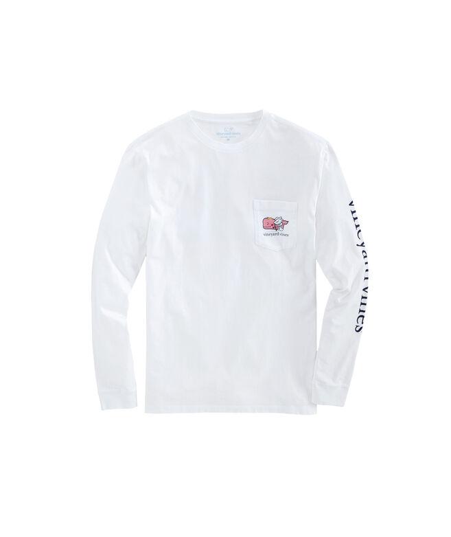 Cupid Whale Long-Sleeve Pocket Tee