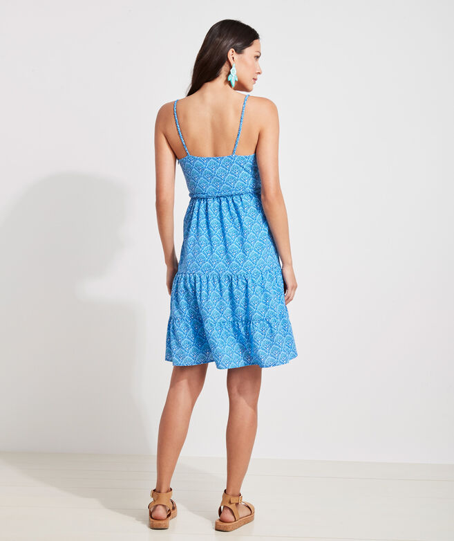 Tile Printed Tiered Dress