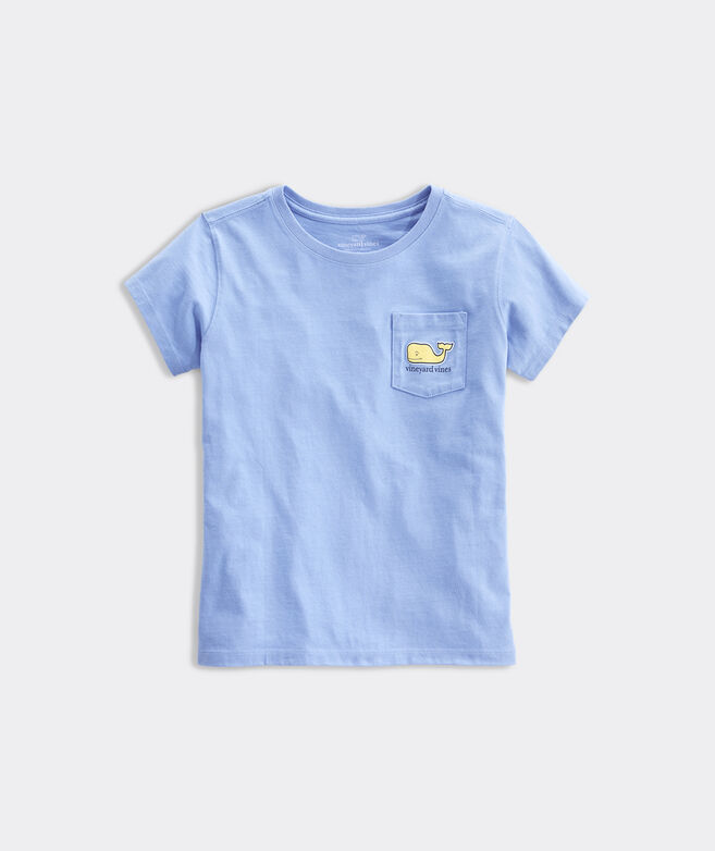 Girls' Painted Citrus Whale Short-Sleeve Pocket Tee