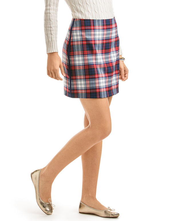 Winter Wool Plaid Skirt