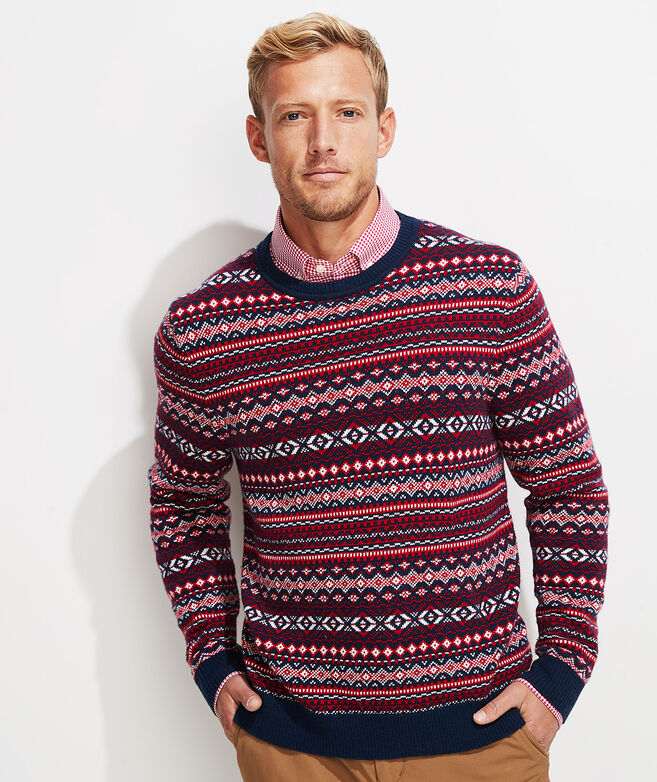Traditional Fair Isle Crewneck Sweater