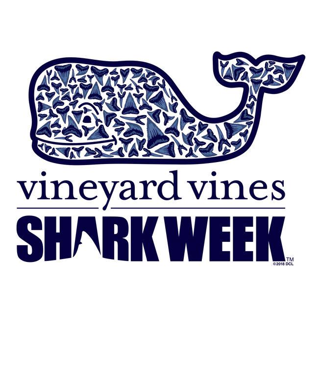 Kids Shark Week Long-Sleeve Shark Tooth Whale Fill T-Shirt