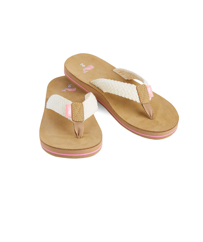 Womens Braided Flip Flops