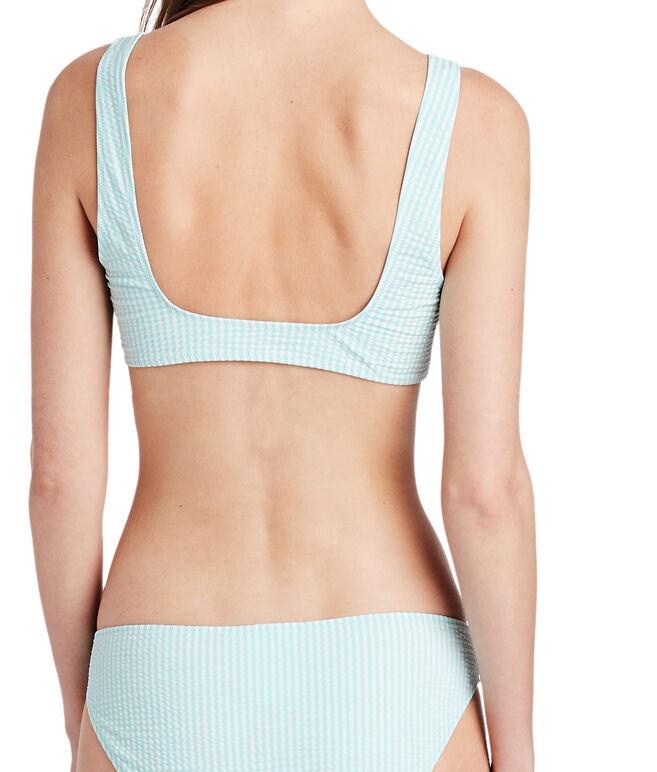 Vineyard Seersucker Bikini Top