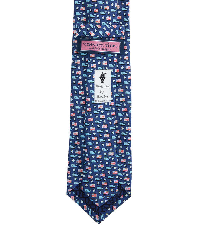 Whale & Flag Tie