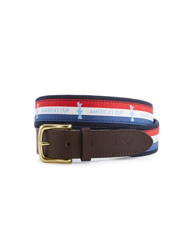 America's Cup Banner Canvas Club Belt