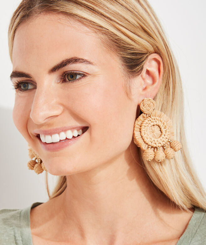 Rattan Raffia Earrings