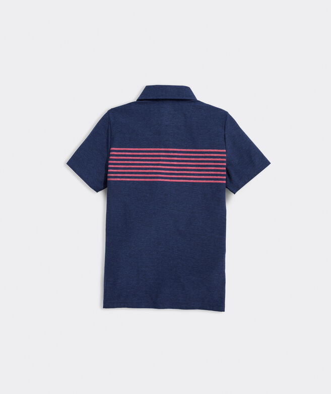 Boys' Seabreeze Chest Stripe Edgartown Polo