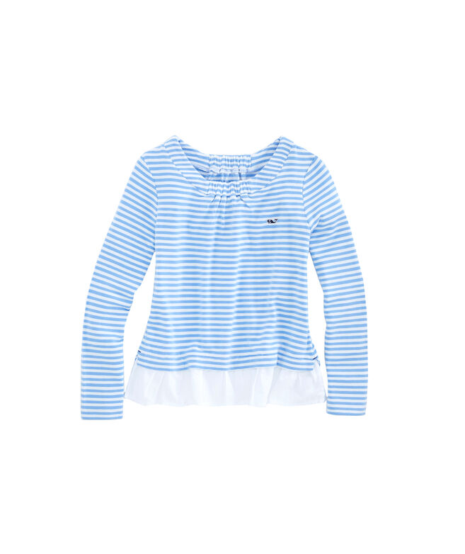 Girls Super-Soft Sweatshirt Mixed Media Top