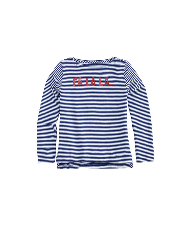 Girls FALALA Glitter Long-Sleeve Tee