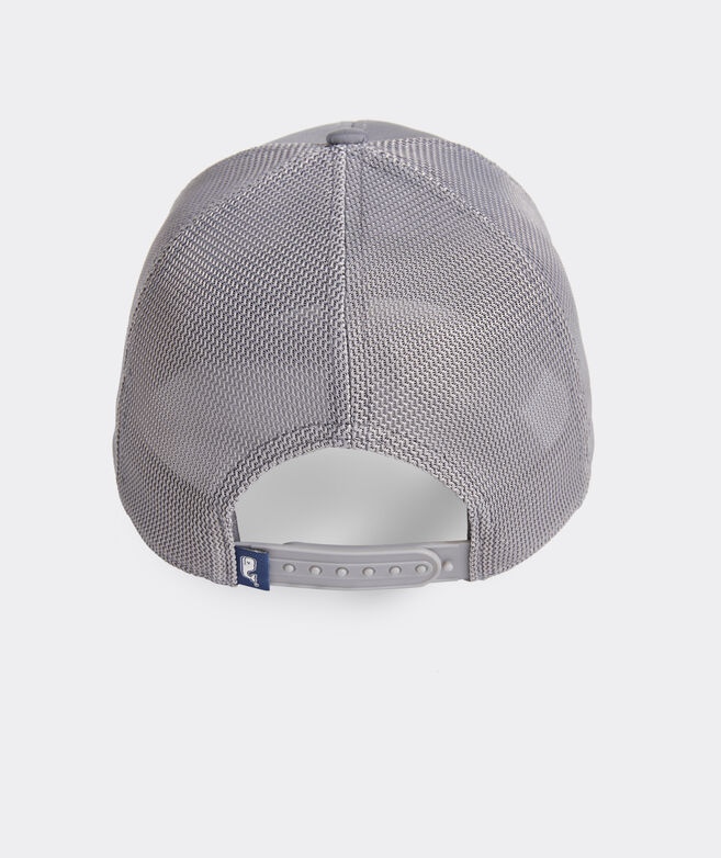 Velcro Whale Dot Patch Performance Trucker Hat