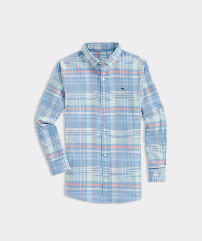 Boys' Flannel Whale Shirt