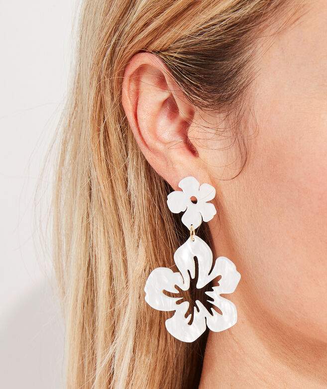 Hibiscus Floral Resin Earring