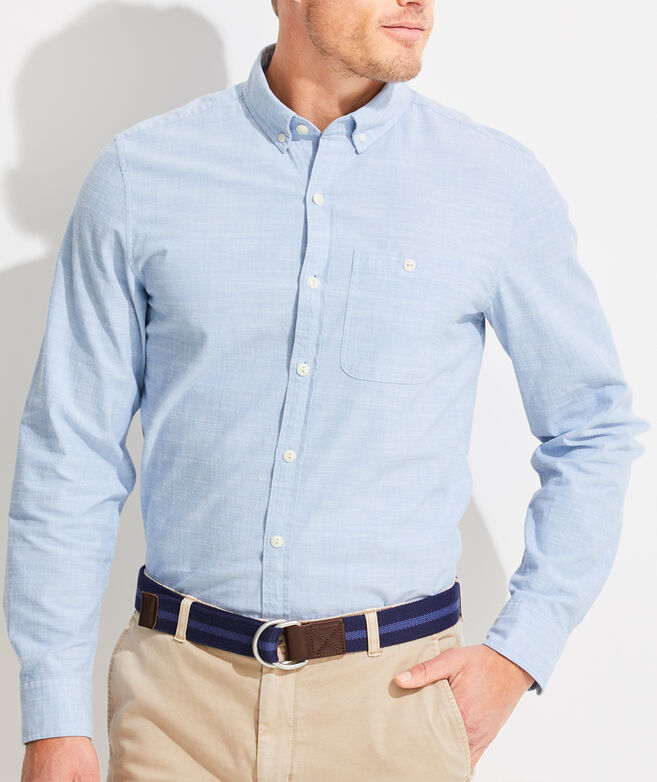 Slim Fit Chambray Longshore Button-Down Shirt
